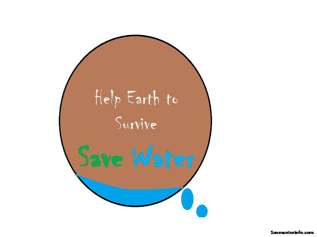 Save water Drawing