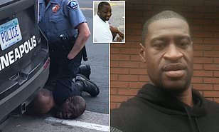 The white policeman(Minneapolis) Kneels the Black man's Neck till he dies