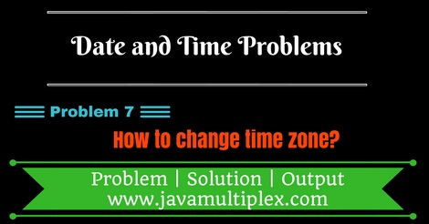 Java program that changes time zone.