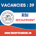 RBI Recruitment 2020 | 39 Vacancies| Apply Online | RBI Careers
