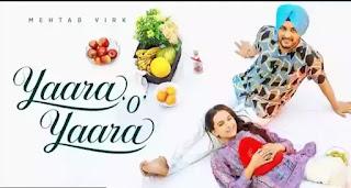 Yaara O Yaara Lyrics - Mehtab Virk