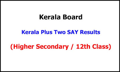 Kerala Plus Two SAY Exam Results