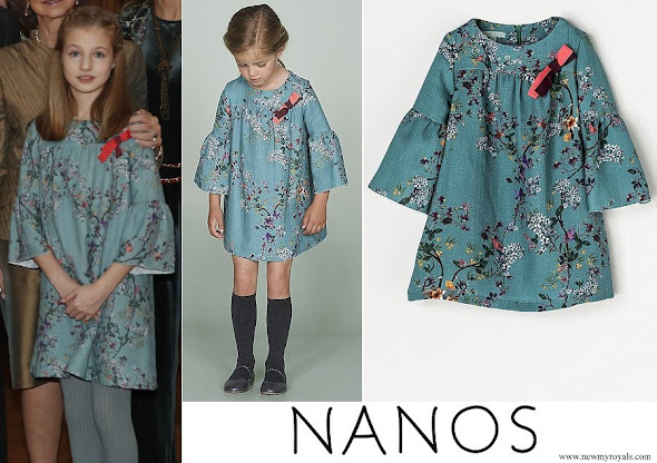 Princess Leonor wore Nanos dress from 2017-2018 Winter Collection