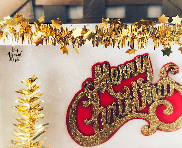 gold tinsel tree garland glitter ornament