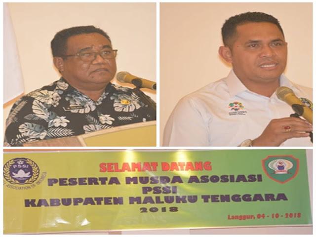 Matheus Teslatu Buka Musda I PSSI Maluku Tenggara
