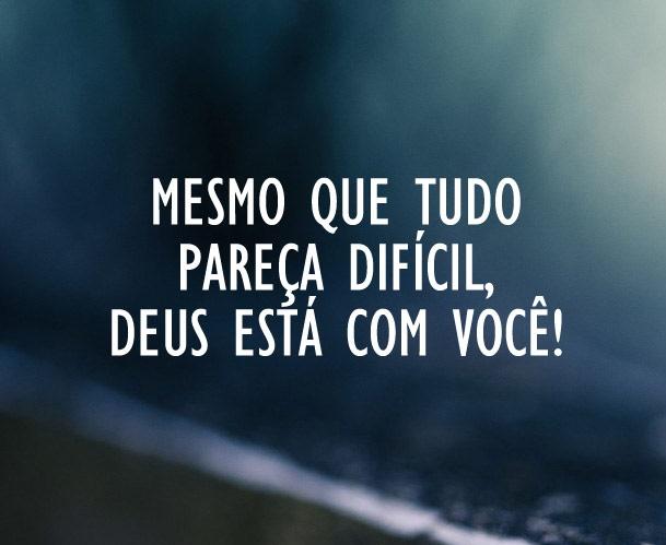 PÃO DIÁRIO - DEUS ESTÁ COM VOCÊ!