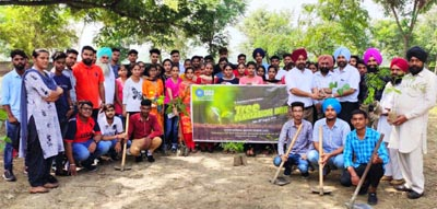 Department of Student's welfare, NSS Unit of Gulzar group during Plantation drive