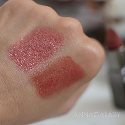 Сравнительные свотчи Губная помада Inglot Q-lipstick 40