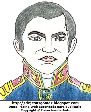 Dibujo de Mateo Pumacahua pintado a colores por Jesus Gómez