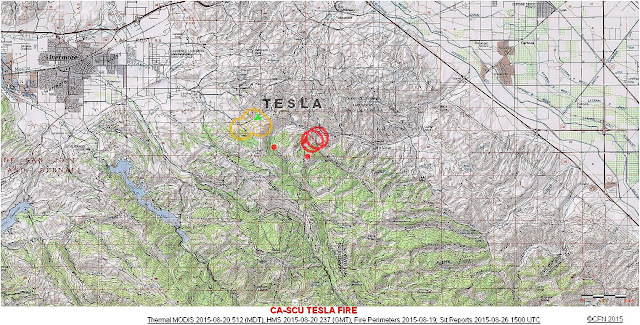 CA-SCU TESLA FIRE TOPOGRAPHIC LOCATION MAP 8-20-15