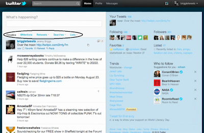 New Twitter Two-Panel Design snapshot