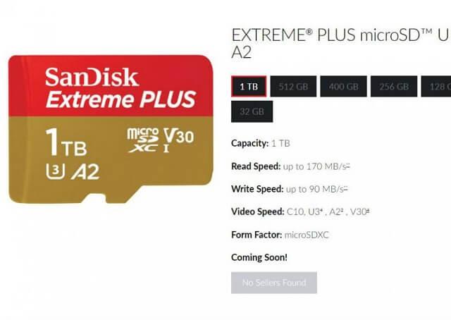 سانديسك تطلق أول بطاقة microSD بسعة 1 تيرابايت