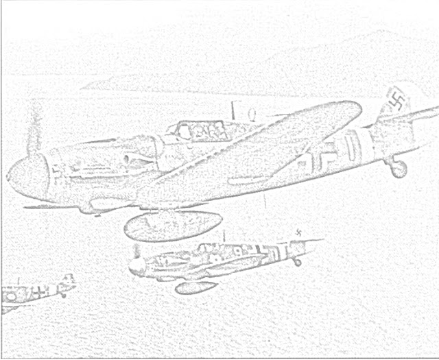 coloring page World War II fighter coloring.filminspector.com