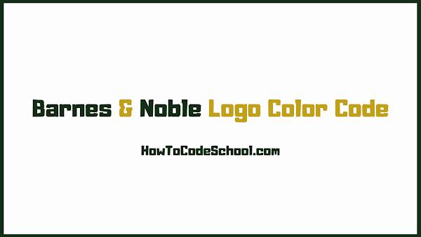 Barnes & Noble Logo Color Code