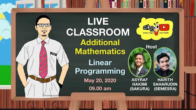 Live Bersama Cikgu Adham di YouTube