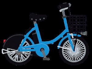 シェア自転車のイラスト(青)