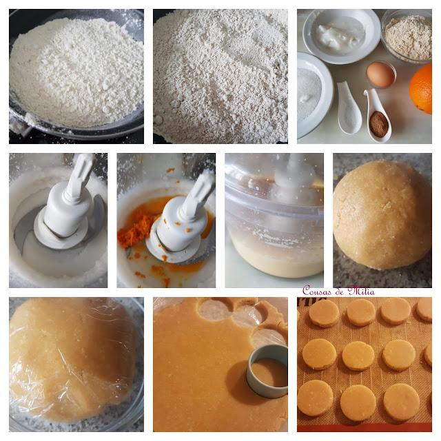 Mantecados de naranja y almendras