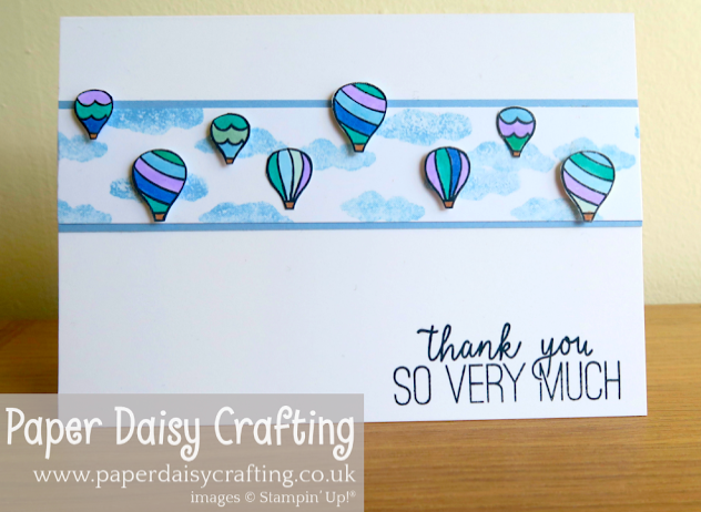 Nigezza Creates with Paper Daisy Crafting using Stampin' Up! Above the Clouds
