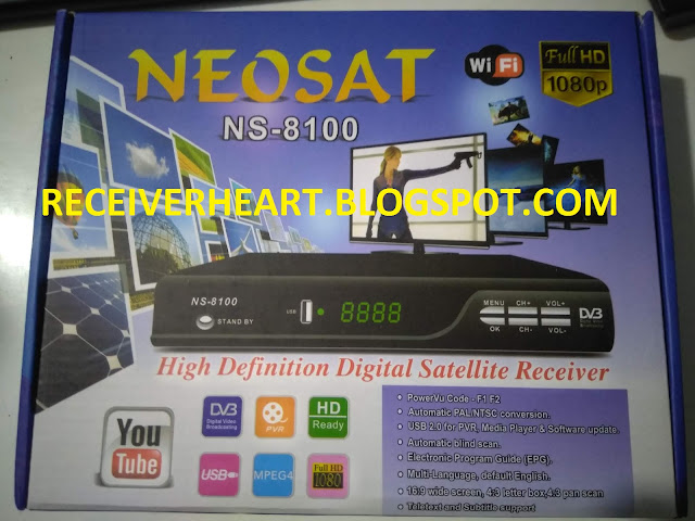 NEOSAT NS-8100 HD DIGITAL SATELLITE RECEIVER NEW SOFTWARE WITH IPTV AND CCCAM CLINE