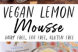 Vegan Lemon Mousse (Gluten Free)