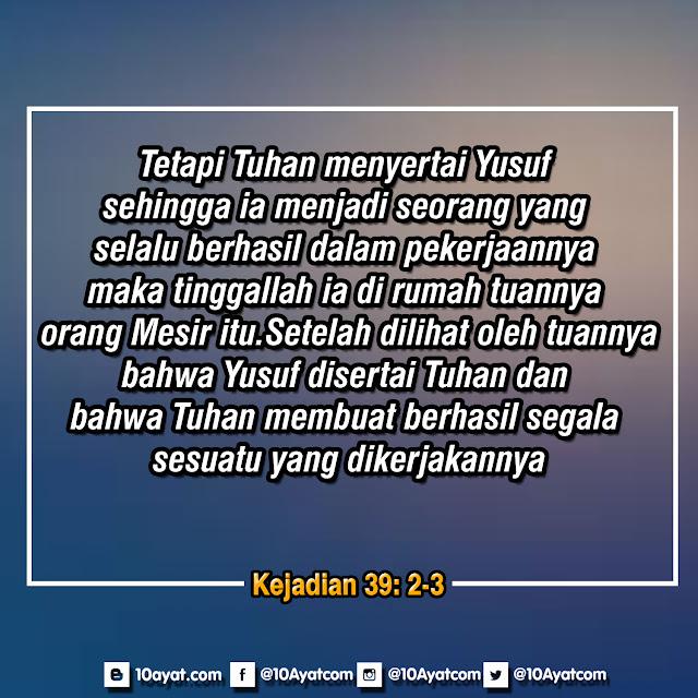 Kejadian 39: 2-3
