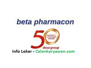 Lowongan Kerja PT Beta Pharmacon (Dexa Group)