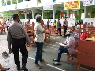 Cegah Klaster Covid-19, Polres Pelabuhan Beri Imbauan Protokol Kesehatan di TPS