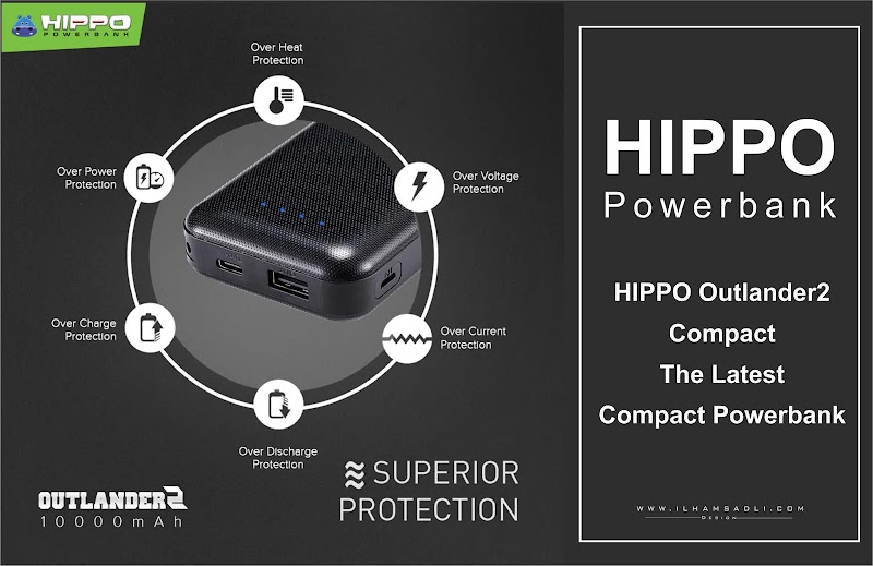 HIPPO Powerbank HIPPO Outlander2 Compact The Latest Compact Powerbank