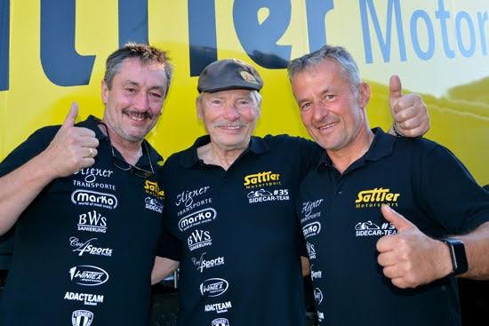 Josef Sattler und Uwe Neubert holen sich in Hockenheim den Deutschen Meistertitel bei den Seitenwagen