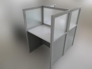 Meja partisi Kantor 2 x 1 + Furniture Semarang ( Cubicle Workstation )