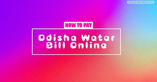 odisha water bill online