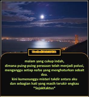 quotes malam indah penuh makna singkat