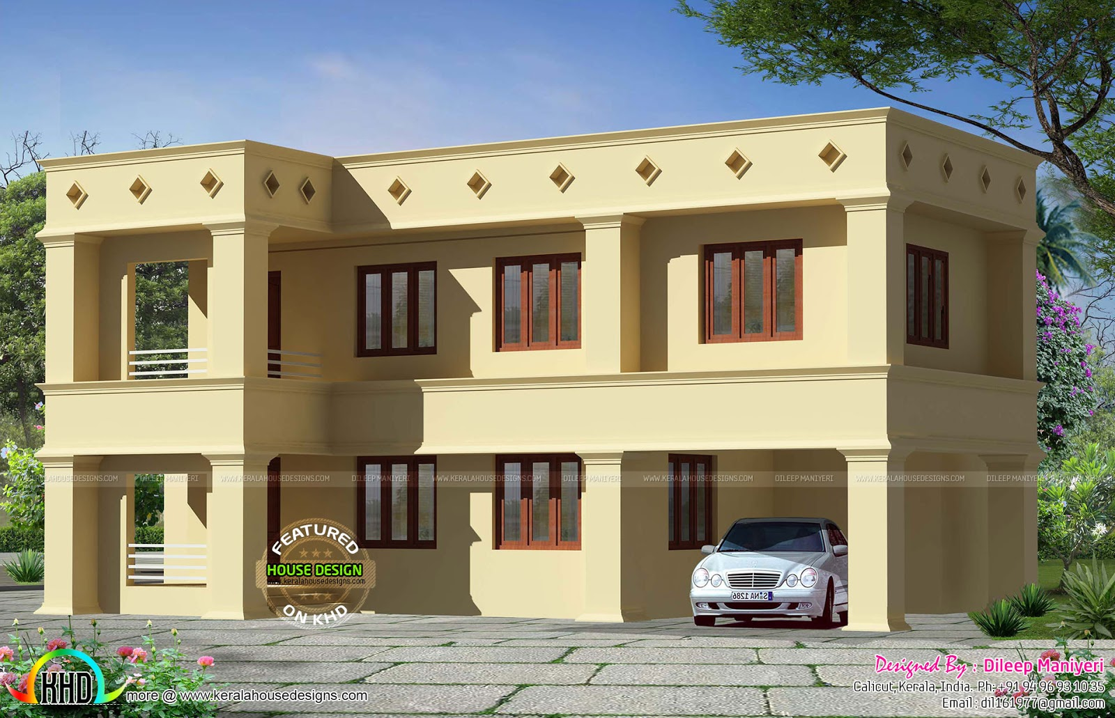 Arabic Style Flat Roof Home Kerala Home Design And Floor Plans