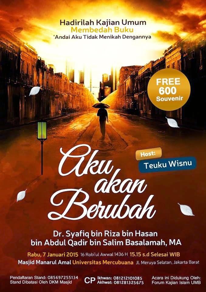 [Download Audio] Kajian Ust. Dr. Syafiq Reza Basalamah MA - Aku Akan Berubah mp3