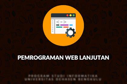 Materi Kuliah Pemrograman Web Lanjutan dengan Codeigniter