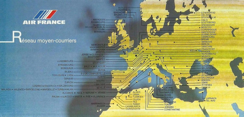 Airline memorabilia: Air France (1989/1990), España