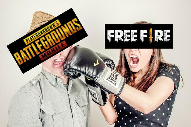 balas hinaan free fire kepada pubg mobile