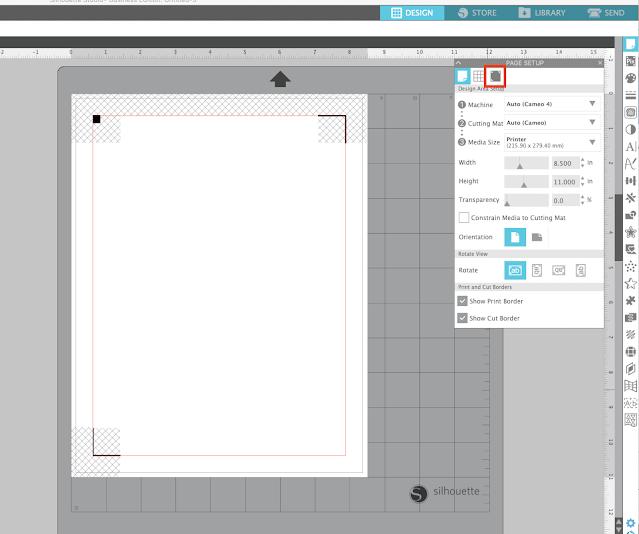 print and cut, silhouette studio v4, registration marks, silhouette cameo print and cut, cameo 4