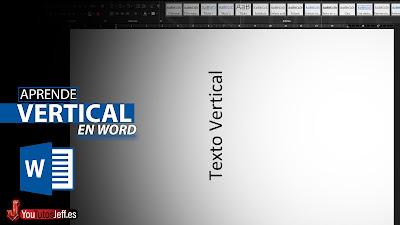 poner texto vertical en word