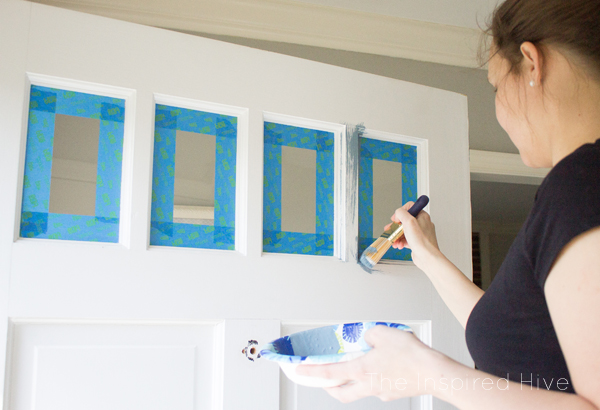 How to paint your front door fast! Increase your curb appeal by painting your exterior door to help sell your home quickly!