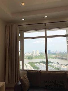 Saigon Pearl Bình Thạnh - Phòng khách view biệt thự