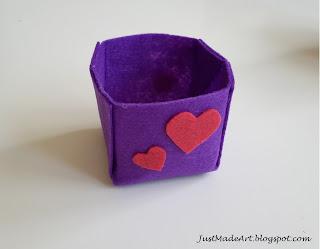 pudełko z filcu