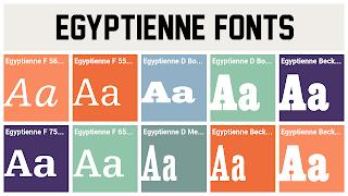 Kuva egyptienne-kirjaimista.