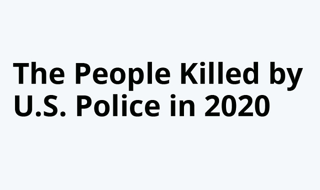 People shot to death by the US Police in 2020