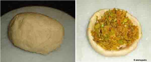 knead the flour