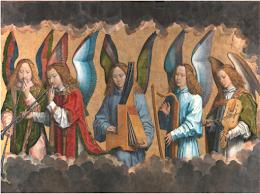 Parte derecha del tríptico 'Retablo de Santa María la Real de Nájera' - Hans Memling