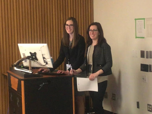 Dr. Kimberly Bishop-Lily (right) and Dr. Adrian Paskey (left)