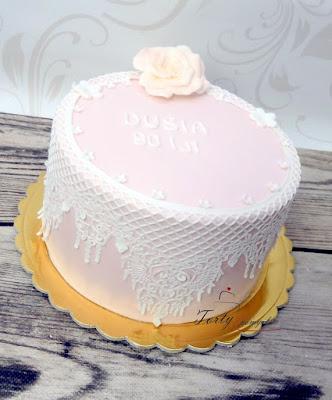 tort z koronka
