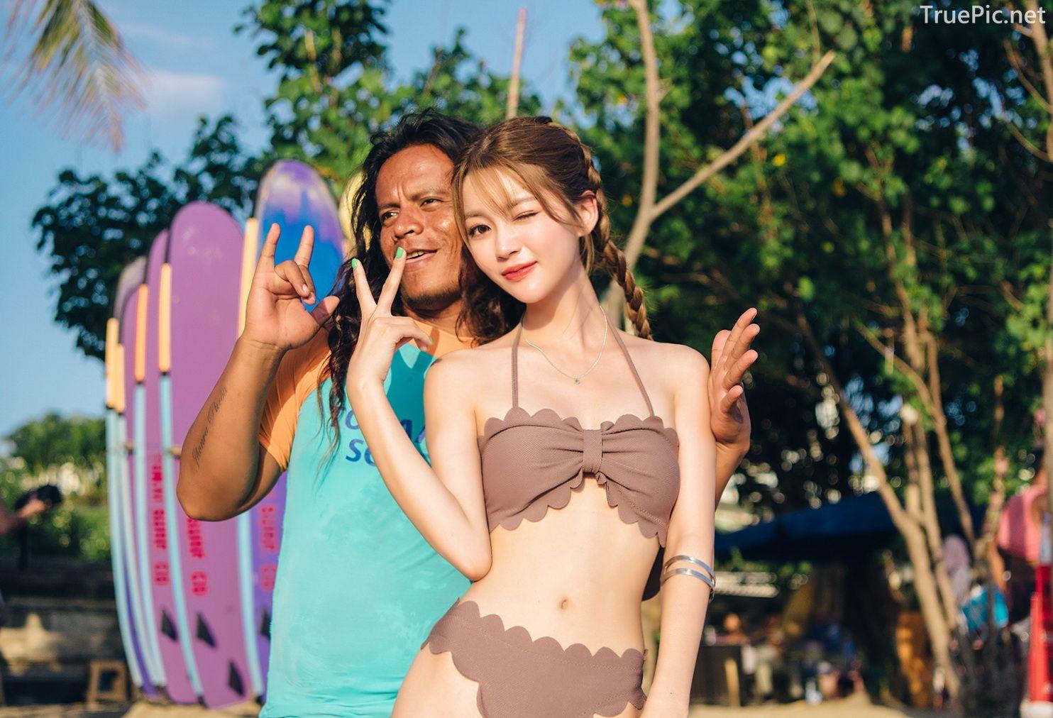 Korean cute model - Cha Yoo Jin - Mermaid Waves Tube Top Bikini - TruePic.net