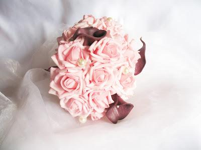 bouquet de mariée retombant artificiel